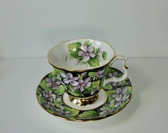 1975 Royal Albert  Provincial Flowers Purple Flower Cup and Saucer set.