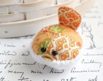 Bird Pincushion Peach Floral Bird Pincushion Pin Keep Kawaii Bird