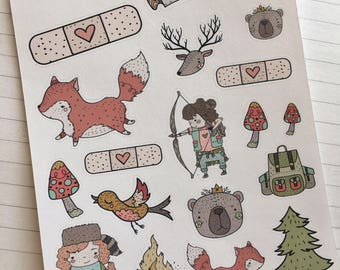Friendship to the Max Decorative Stickers | Lumberjanes Inspired