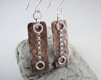 Nickel Free Earrings, Copper Earrings, 7th Anniversary Gift, Cool Earrings, Copper Anniversary, Copper Gift for Her, Latest Earrings