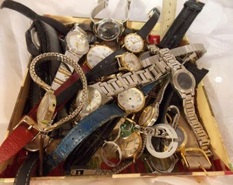 Broken Watch Parts~Watch Parts~Steampunk DIY Supply, Vintage Keys, Crafting, Paper Crafts, Card Scrapbook Crafts
