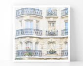 Paris Photography - Curved Balconies, 5x5 Paris Fine Art Photograph, French Home Decor, Wall Art, Paris Gallery Wall
