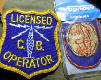 CB Patches  Cb Licensed CB Operator Unopened I'm A CB Nut Ships Free