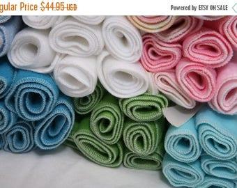 On Sale Fleece Diaper Liners- 50 fleece diaper liners- U PICK color