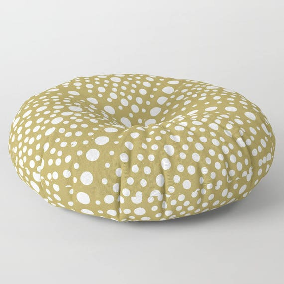 Gold floor cushion - Round cushion - Gold Pillow - Round pillow - Floor pillow - Geometric pillow - 26 inch pillow - 30 inch pillow