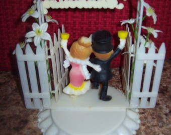 Happy Anniversary Vintage Cake Topper