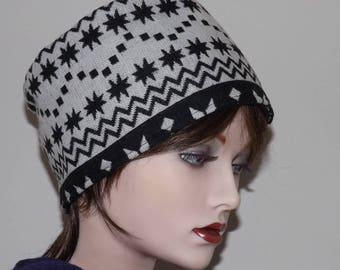 Black and White Nordic Style Fabric Hat