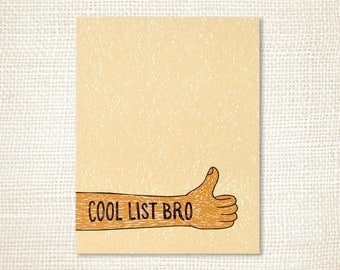 Notepad - Cool List Bro