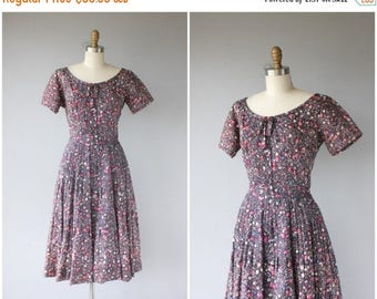 48 HR FLASH SALE 1950s Party Dress | 50s Dress | 50s Party Dress | 1950s Printed Dress | Purple and Pink 1950s Dress