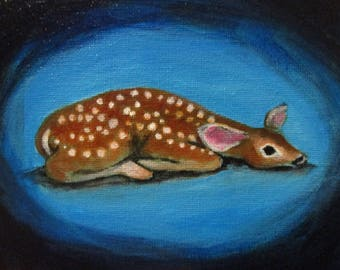 Fawn - original daily painting by Kellie Marian Hill