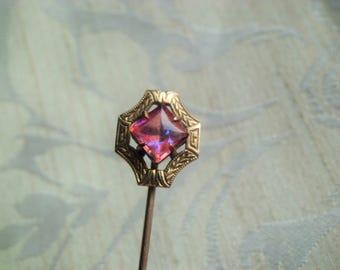 Antique Art Nouveau Dragon's Breath Stick Pin