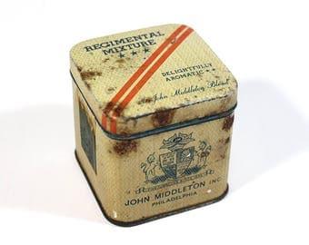Vintage John Middleton Regimental Mixture Tobacco Tin