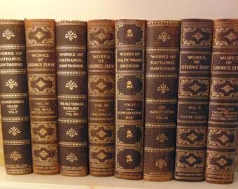 Leather Antique Books