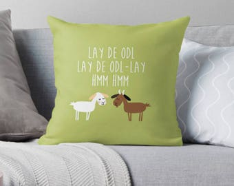 Sound of music goat pillow  - MADE TO ORDER - Decorative square cotton linen throw pillow case cushion cover pillow cover pillowcase