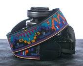 Camera Strap, dSLR, SLR, Mirrorless, Mens, Womens, Camera Neck Strap, Tribal, Turquoise, Native American insp., Southwestern, 125
