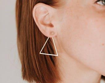 Triangle Jacket Earrings