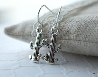 Cactus Earrings , Saguaro Jewelry , Trendy Gifts for Her