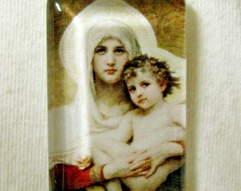 Madonna of the Roses pendant with chain - GP01-574