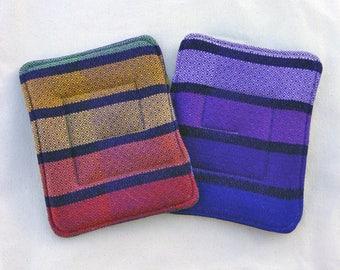 Wrap Scrap Pot Holders - Wrap Scrap Hot Pads - Gira Diamond Weave - Purple Pot Holders - Wrap Scrap Home - Girasol Kitchen - Girasol Decor