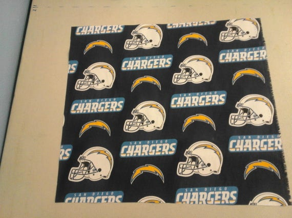 San Diego Chargers Fabric 249175 From Pillowman1 On Etsy