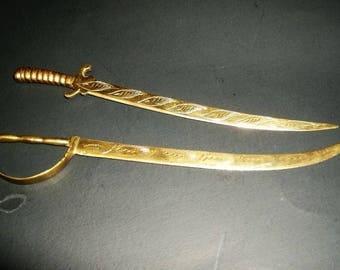 Brass Sword Letter Openers