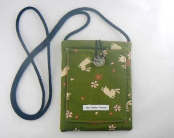 Mini Pouch with Bunnies & Blossoms