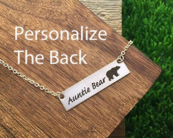 Auntie Bear Necklace Gifts for Auntie Gifts Auntie Bear Gift For Mother's Day Gift Jewelry Sister Birthday Remembrance Option For Aunt
