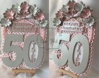 50th Sister Birthday TF0160, SVG,MTC,CAMEO,Scal,ScanNCUT,Cricut