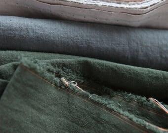 Khaki Washing Pure Linen, U345