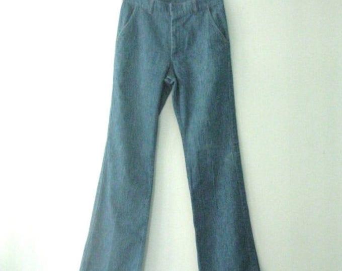 WINTER SALE Vintage 70s Farah jeans / Boho chic denim pants / dressed up Hippie jeans / 28 x 31