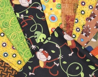 Monkeys Quilt Kit-Fast-Easy-Fun Monkeys Designs-No More Monkeys Jumping on the Bed!