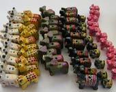 60 wooden animal beads - custom for Jodi only