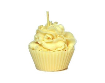Cupcake Candle in French Vanilla Cake - Scented Soy Cupcake Candles