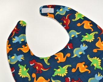 Youth Bib or Teen Bib, Special Needs Bib, Girl or Boy Craft Cloths Protector, Dinosaurs, Handicap Bibs For Disabled