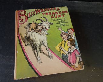 Billy Whiskers Treasure Hunt - Vintage Book - Children's Book -  Book for Decor
