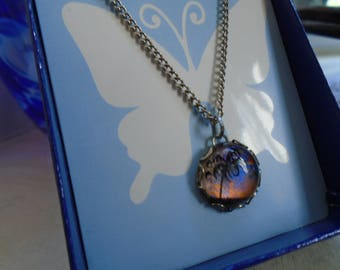 Butterfly Wings Necklace By Jewels Of The Sky  Prong Set Cabochon