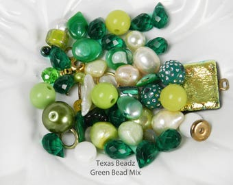 Green Bead Mix Multi Color Beads Freshwater Pearls Lime Bead Mix Multicolor Mixed Color Emerald Green Teardrop