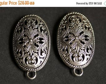 SUMMER SALE Two (2) Viking Brooches. Silver Apron Pins. Fretwork Turtle Brooch Set. Shoulder Brooches. Norse Jewelry. Historical Renaissance