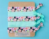 Tsum Tsum Disney Inspired Knot Hair Ties Fold Over Elastic Stretch Bracelet by Whimsical Elements
