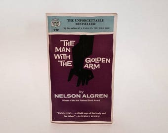 Vintage Pop Culture Book The Man With The Golden Arm by Nelson Algren 1964 Paperback