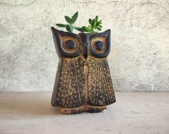 Midcentury Modern owl planter by Reuben's Originals, ceramic planter stoneware, midcentury planter, mid century modern decor, owl gifts