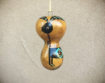 Gourd Ornament Antelope Design, Southwest Gifts, Native American Style Christmas Ornaments