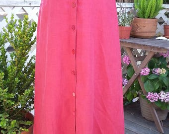 Vintage Red Maxi Skirt