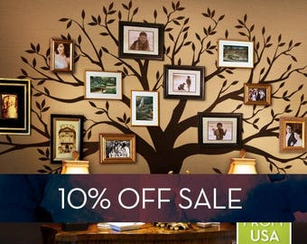 Sale   Wall Decal Family Tree Wall Decal Sticker Family Photo Tree Family  Like Branches On