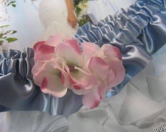 Blue and Pink Flower Garter