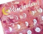 Pink Lunar Ramadan Pocket Calendar