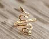 Bronze Snake Ring