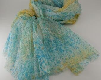Handmade Silk Scarf / Abstract