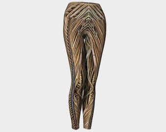 Palm Fronds Yoga Leggings style 2