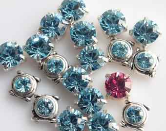 Swarovski Element Lot Destash, Swarovski Crystal Lot, Swarovski Jolee's, Destash Lot of Connectors, Lot of 24, Genuine Swarovski Crystal